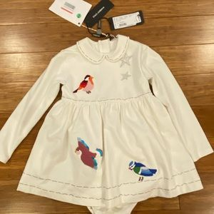 BNWT Dolce and Gabbana dress and diaper cover